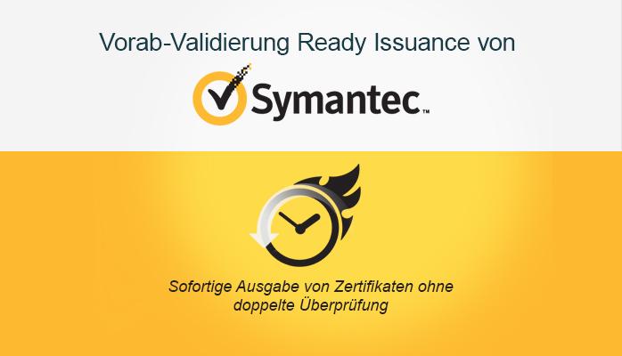 Sofortige Ausgabe von Zertifikaten ohne Revalidierung mit Symantec\'s ...